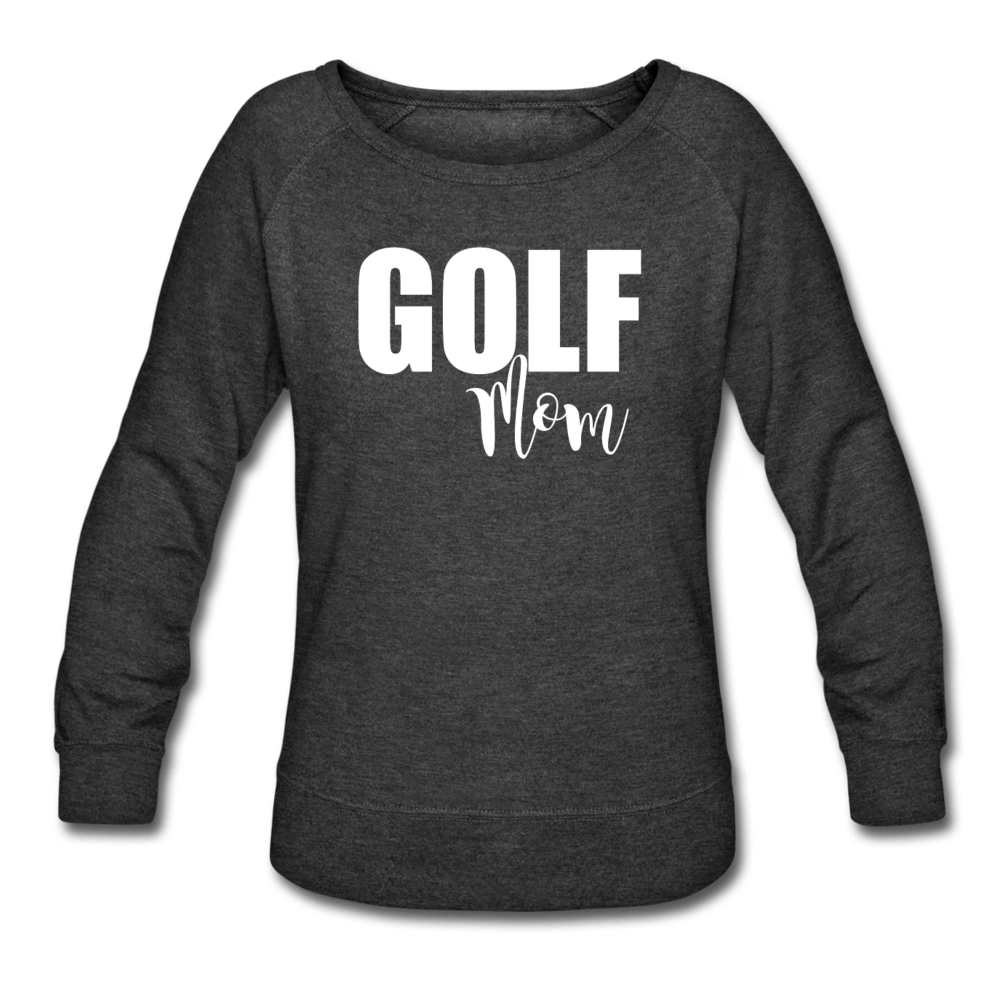 Maroon Golf Mom Sweatshirt - heather black