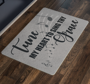 tune thy heart floor mat