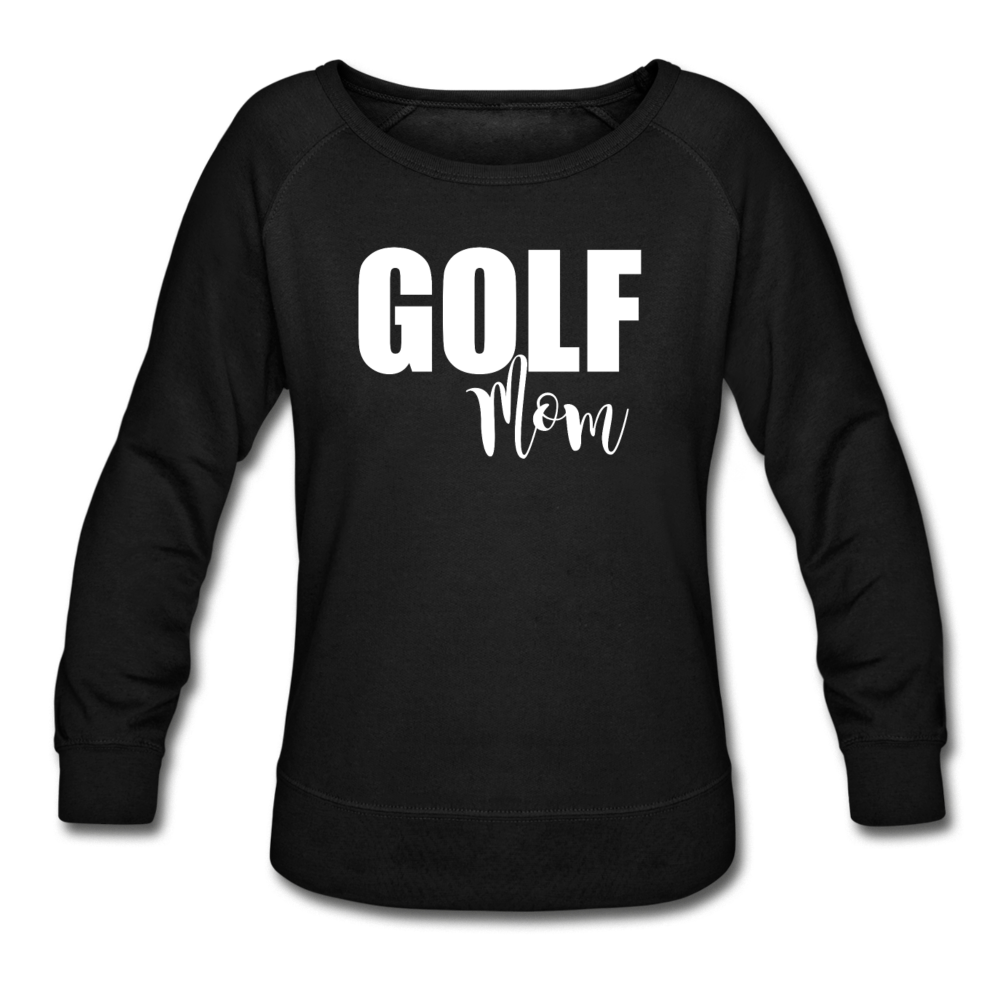 Maroon Golf Mom Sweatshirt - black
