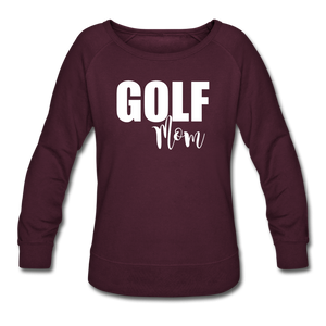 Maroon Golf Mom Sweatshirt - plum