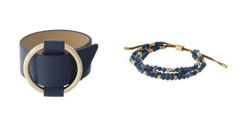 SET OF BLUE SUMMER BRACELETS