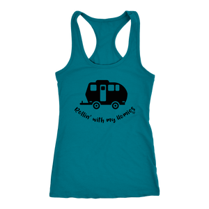 Rollin' with my homies Camping Tee or Tank