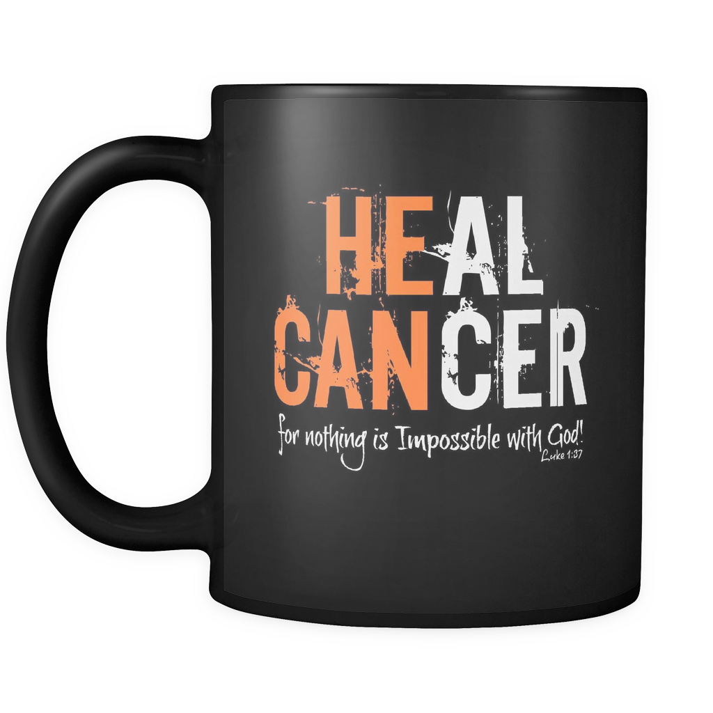 BLACK MUG: HEAL CANCER