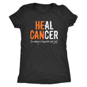 Open image in slideshow, HEAL CANCER: Womens Tee