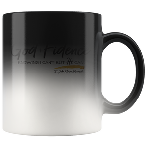 God Fidence color changing mug