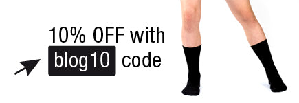contemporary black socks