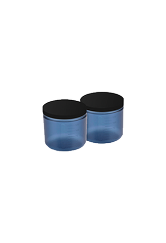 Tan.Cup 2 Pack inc Lids - Black Transparent