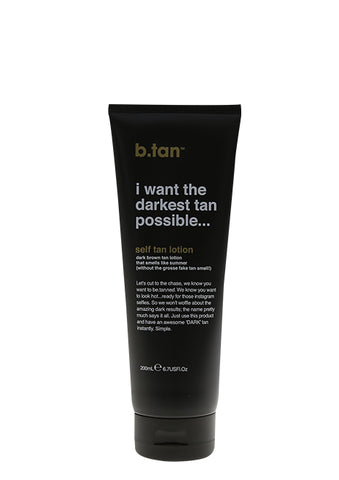 dark self tan lotion