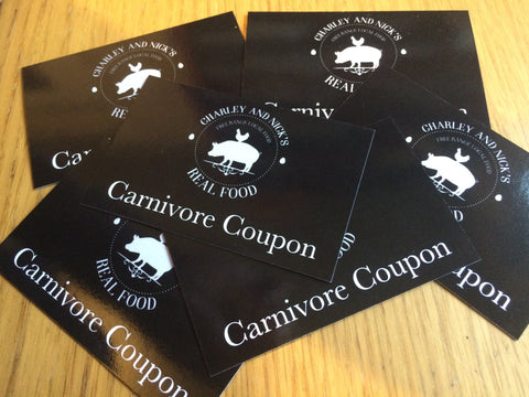 Carnivore Coupon - Gift Voucher For Meat Lovers