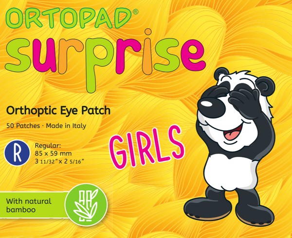 ORTOPAD Surprise Girls Regular (Ages 2+) Occlusion Eye Patches (NEW)