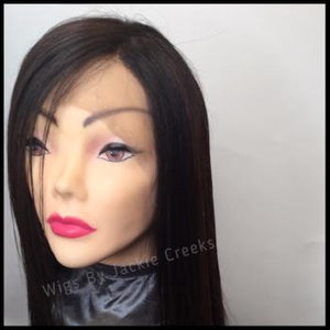 100% Human hair Custom Wig relaxed straight look