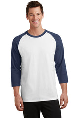 3/4 Sleeve Team Style Two Tone T-Shirt-Shirts-X-small