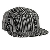 Aztec Pattern Camper Hat Black/White-Hats-