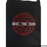 BEND THE KNEE Dragon High Quality Embroidered Extra Long Stain Release Apron-Already Embroidered-