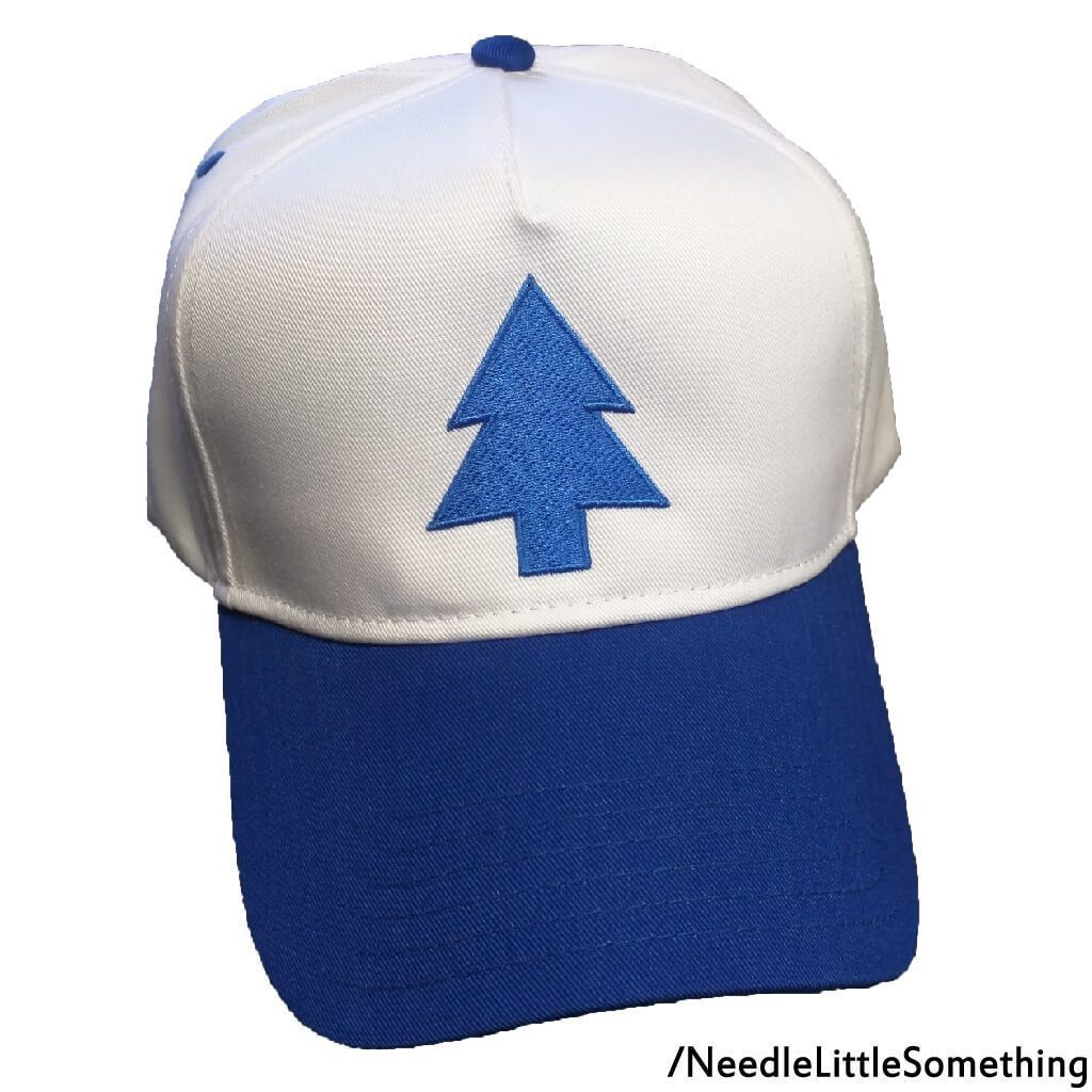Blue Pine Tree Cosplay Embroidered 5-Panel Hat Cap – Needle Little ... a6e8a86d16d