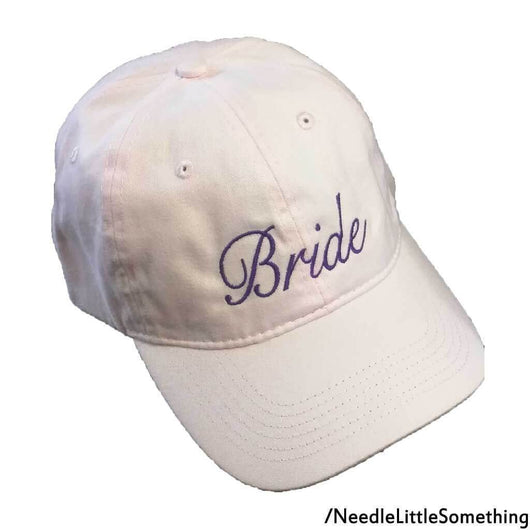 Bride And Groom His And Hers Embroidered Soft Pink and Blue Dad Hat/Cap-Already Embroidered-