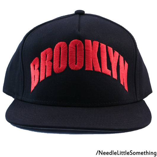 Brooklyn Embroidered 5-Panel Hat/Cap-Already Embroidered-