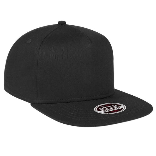 Cotton 5-Panel Flat Bill Embroidered Hat-Hats-