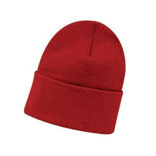 Cotton Knit Fold Beanie-Beanie-