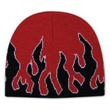 Custom Flame Design Acrylic Knit Beanie-Custom-