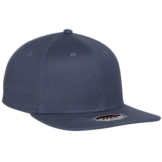 Custom Flex Cotton Flat Bill 6 Panel Hat-Custom-S/M
