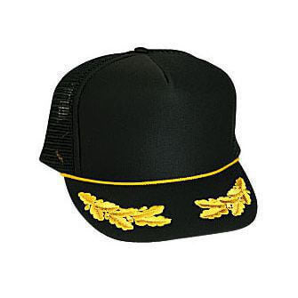 Custom Foam Front Oak Leaves Mesh Back Hat-Custom-