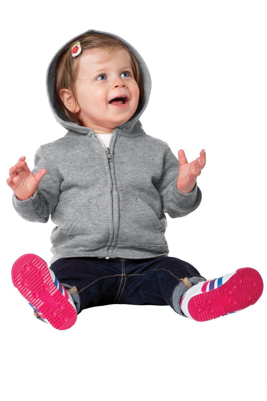 Custom Infant Fleece Full-Zip Hooded Sweatshirt-Custom-6M