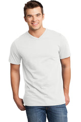 Custom Mens Very Soft T-Shirt With V-Neck-Custom-White