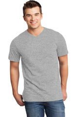 Custom Mens Very Soft T-Shirt With V-Neck-Custom-Light Heather Grey