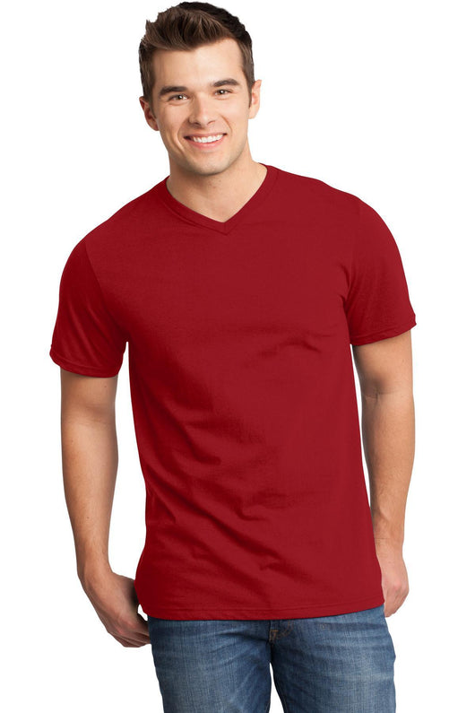 Custom Mens Very Soft T-Shirt With V-Neck-Custom-Classic Red