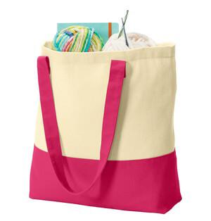Custom Two Tone Natural 100% Cotton Tote Bag-Custom-