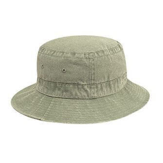 Custom Youth Washed Cotton Bucket Hat-Custom-
