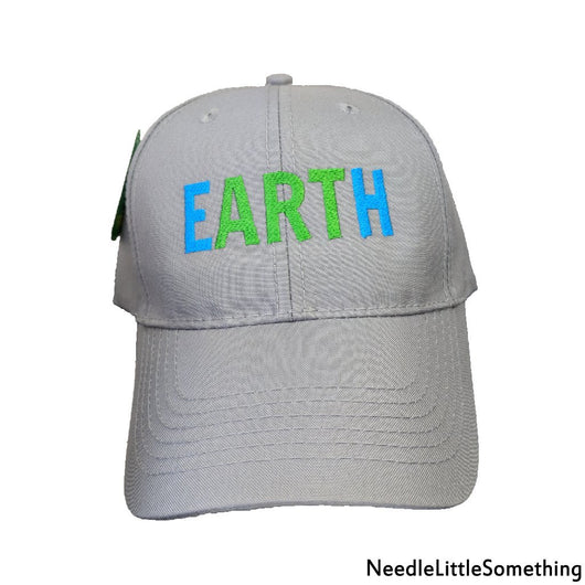 Earth(ART) Embroidered Recycled 6-Panel Cap-Already Embroidered-