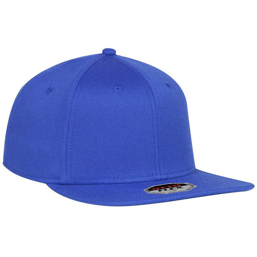 Flex Wool Blend Flat Bill 6 Panel Hat-Hats-S/M