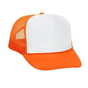 Foam Front Neon Mesh Back Golf Style Hat-Hats-