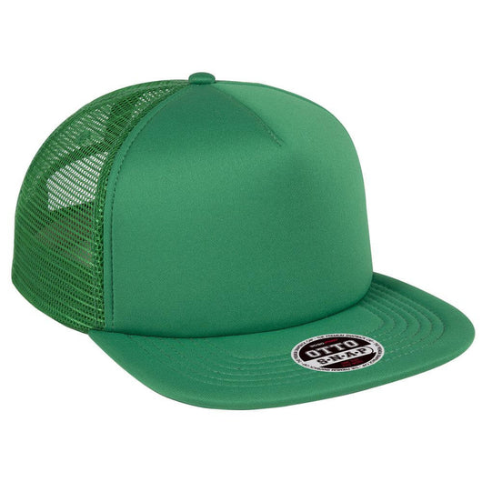 Foam Front Polyester Flat Bill Mesh Back Hat-Hats-