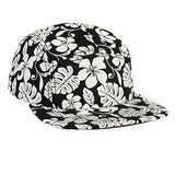 Hawaiian Floral 5 Panel Camper Hat-Hats-