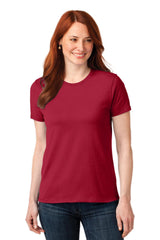 Ladies 50/50 Cotton / Poly Blend Comfortable T-Shirt-Shirts-X-Small