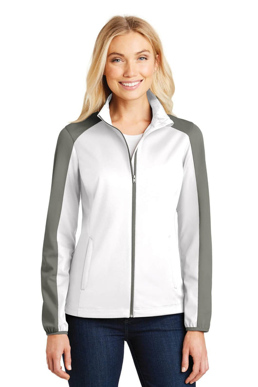 Ladies Active Colorblock Soft Shell Jacket-Jacket-X-Small