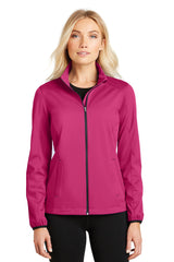 Ladies Active Soft Shell Jacket With Zipper-Jacket-X-small