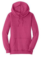 Ladies Lightweight Fleece Pull Over Hoodie-Jacket-