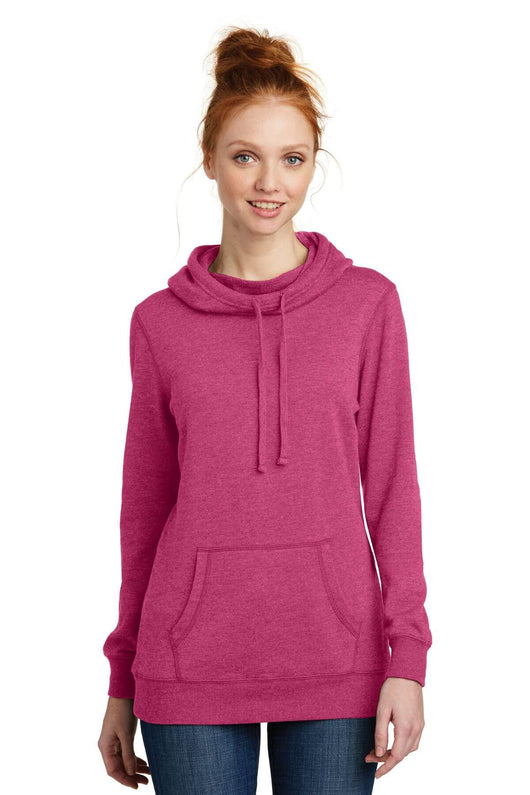 Ladies Lightweight Fleece Pull Over Hoodie-Jacket-X-Small