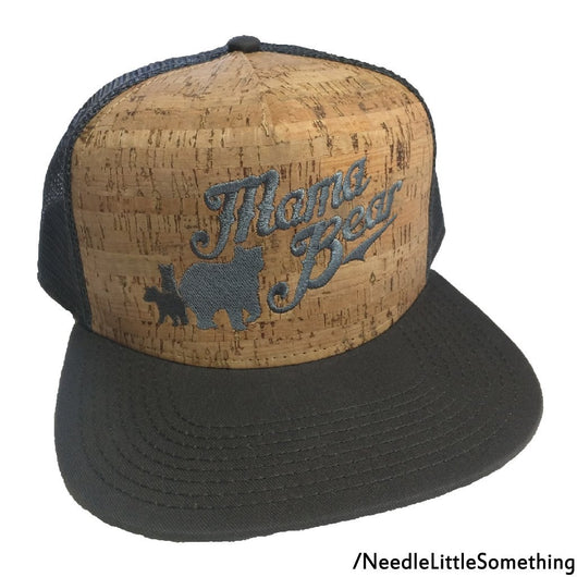 Mama Bear And Cubs Embroidered Mesh-Net Hat-Already Embroidered-