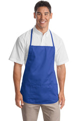 Medium Length Apron With 3 Pockets and Pen Pocket-Apron-
