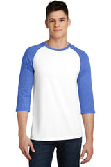 Mens 3/4-Sleeve Raglan T-Shirt-Shirts-x-Small