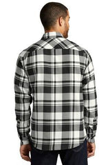 Mens Button Down Plaid Flannel Long Sleeve Shirt-Shirts-