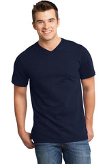 Mens Very Soft T-Shirt With V-Neck-Shirts-Heather Royal Blue