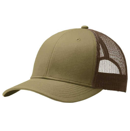 Mesh Backed Curved Bill 6-Panel Trucker Caps-Hats-