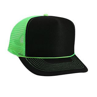 Neon Polyester Foam Front Mesh Back Hat-Hats-