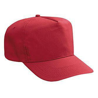 Poly/Cotton 5 Panel High Crown Golf Style Hat-Hats-